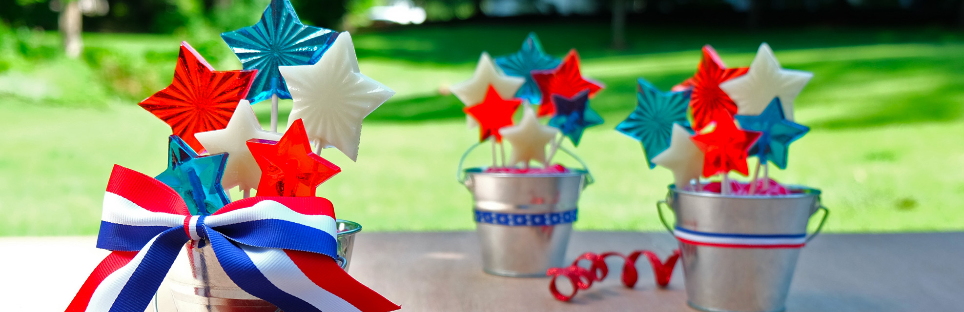 red, white, blue holiday recipes category image
