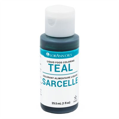 Teal Liquid Food Color 1 oz.