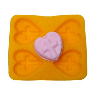 Cross on Heart Flex Mold