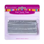 Twist Ties, Silver 50 pack