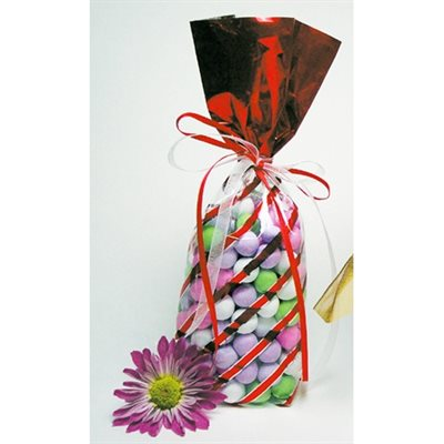 Candy Bags, Red Foil Stripe (8 pack)
