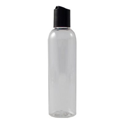 4 oz. Clear PET Plastic Bottles with Dispenser Caps (12 pack)