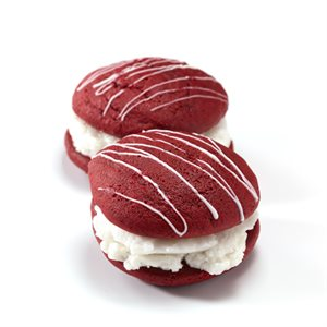 Red Velvet Whoopie Pies with Cake Batter Ice Cream Sandwiches