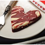 Red Velvet Cheesecake Brownie Hearts