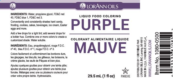 Purple Liquid Food Coloring - Worksheet & Coloring Pages