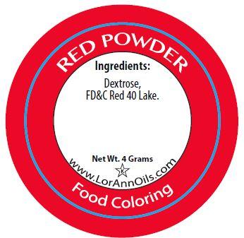 Red Powder Food Coloring | LorAnn Oils