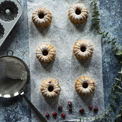 Nothing Bundt Cranberry Orange Cakes