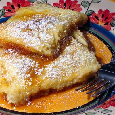 Caramel Souffle French Toast