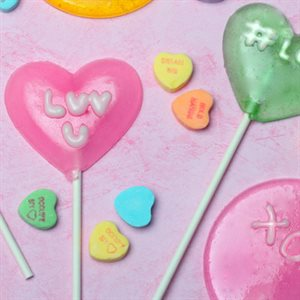 Conversation Hearts Lollipops
