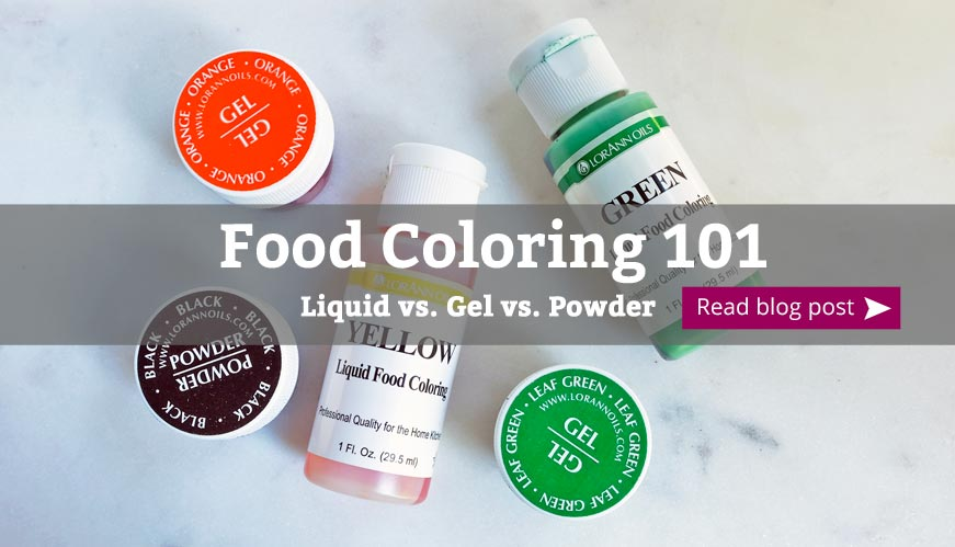 food coloring 101