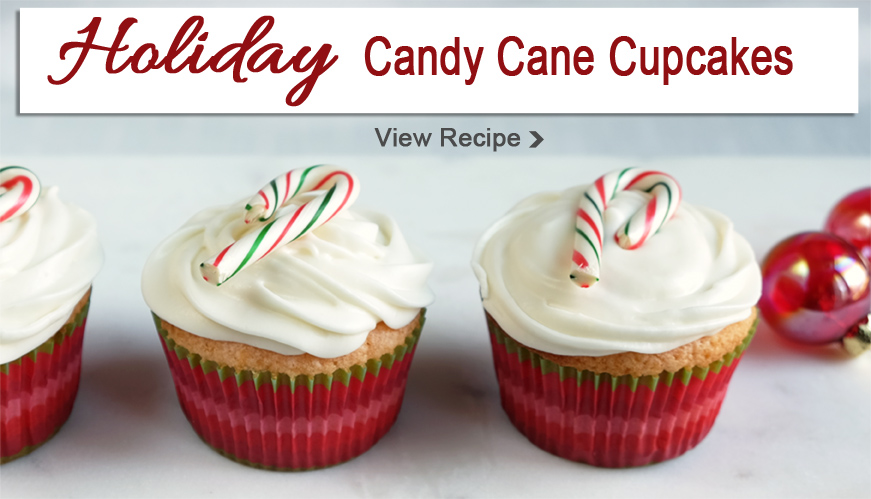 Holiday candy cane cupcakes recipe